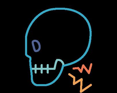 顎がガクガクする・顎関節症